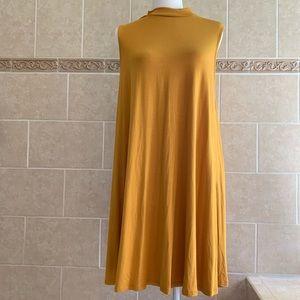 Mittoshop Mustard Yellow/gold sleeveless dress